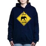 elephant-crossing-sign Women's Hooded Sweatshirt