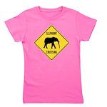 elephant-crossing-sign Girl's Tee