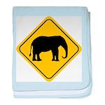 elephant-crossing-sign baby blanket