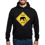 elephant-crossing-sign Hoodie (dark)