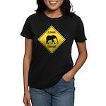 elephant-crossing-sign Women's Classic T-Shirt