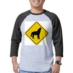 wolf-crossing-sign.... Mens Baseball Tee