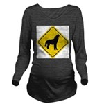 wolf-crossing-sign.... Long Sleeve Maternity T-Shi