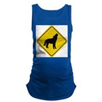 wolf-crossing-sign.... Maternity Tank Top
