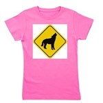 wolf-crossing-sign.... Girl's Tee