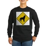 wolf-crossing-sign.... Long Sleeve Dark T-Shirt