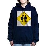 zebra-crossing-sign... Women's Hooded Sweatshirt