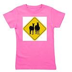 zebra-crossing-sign... Girl's Tee