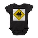 zebra-crossing-sign... Baby Bodysuit