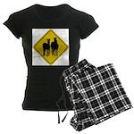 zebra-crossing-sign... Women's Dark Pajamas