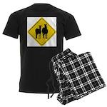 zebra-crossing-sign... Men's Dark Pajamas