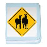 zebra-crossing-sign... baby blanket