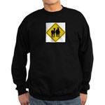 zebra-crossing-sign... Sweatshirt (dark)
