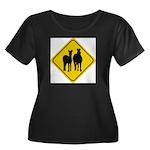 zebra-crossing-sign... Women's Plus Size Scoop Nec
