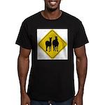 zebra-crossing-sign... Men's Fitted T-Shirt (dark)