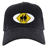 zebra-crossing-sign... Black Cap with Patch