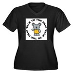 Funny Koala Women's Plus Size V-Neck Dark T-Shirt