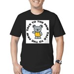 Funny Koala Men's Fitted T-Shirt (dark)