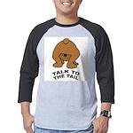 talk-tail-bear-2 Mens Baseball Tee