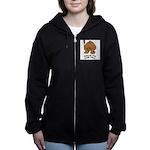 talk-tail-bear-2 Women's Zip Hoodie
