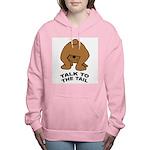 talk-tail-bear-2 Women's Hooded Sweatshirt