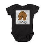 talk-tail-bear-2 Baby Bodysuit