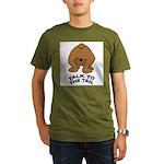 talk-tail-bear-2 Organic Men's T-Shirt (dark)