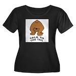 talk-tail-bear-2 Women's Plus Size Scoop Neck Dark