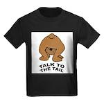 talk-tail-bear-2 Kids Dark T-Shirt