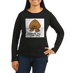 talk-tail-bear-2 Women's Long Sleeve Dark T-Shirt
