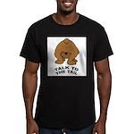talk-tail-bear-2 Men's Fitted T-Shirt (dark)