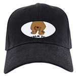 talk-tail-bear-2 Black Cap with Patch