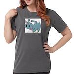 Cartoon Rhino Womens Comfort Colors® Shirt