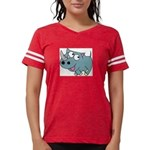 Cartoon Rhino Womens Football Shirt