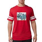 Cartoon Rhino Mens Football Shirt