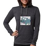 Cartoon Rhino Womens Hooded Shirt