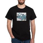 Cartoon Rhino Dark T-Shirt