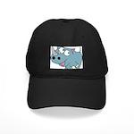 Cartoon Rhino Black Cap with Patch