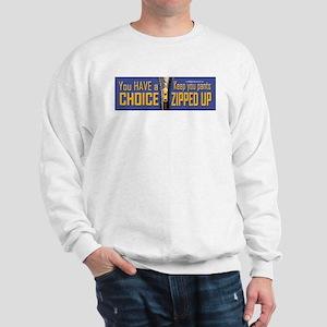 Choice, Zipped Sweatshirt