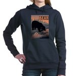bear-CROP-text Women's Hooded Sweatshirt