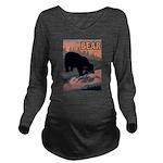 bear-CROP-text Long Sleeve Maternity T-Shirt