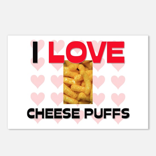 I Love Cheese Puffs Postcards (Package of 8)
