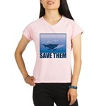 FIN-whale-save-them Performance Dry T-Shirt