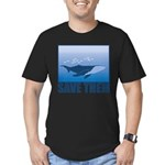 FIN-whale-save-them Men's Fitted T-Shirt (dark)