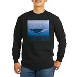FIN-whale-save-them Long Sleeve Dark T-Shirt