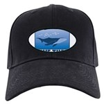 FIN-whale-save-them Black Cap with Patch