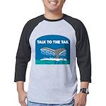 FIN-whale-talk-tail Mens Baseball Tee