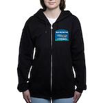 FIN-whale-talk-tail Women's Zip Hoodie