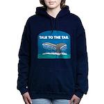 FIN-whale-talk-tail Women's Hooded Sweatshirt