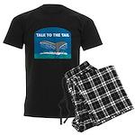 FIN-whale-talk-tail Men's Dark Pajamas